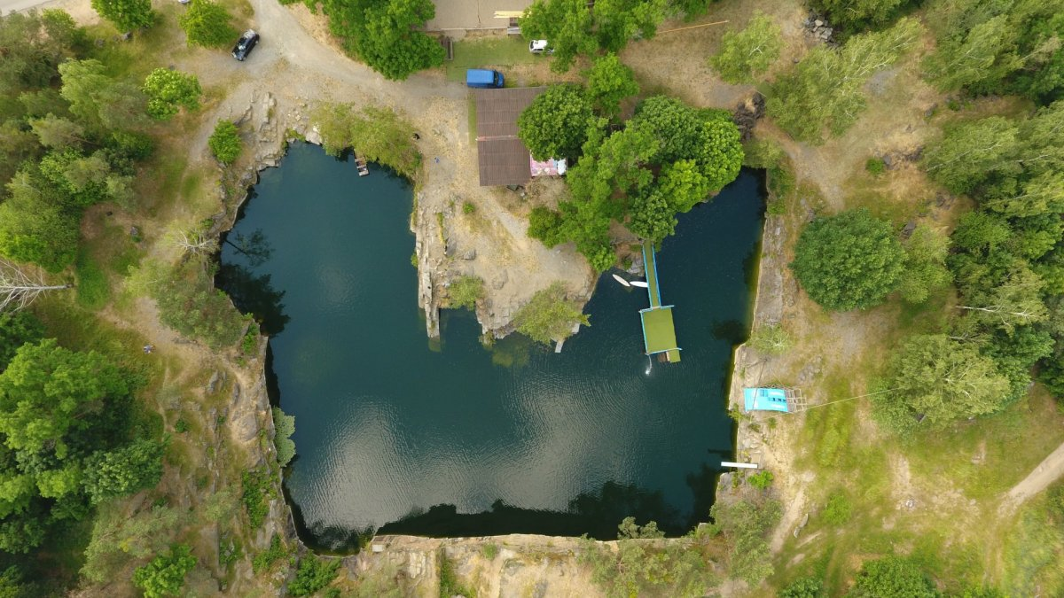 Quarry drone photography