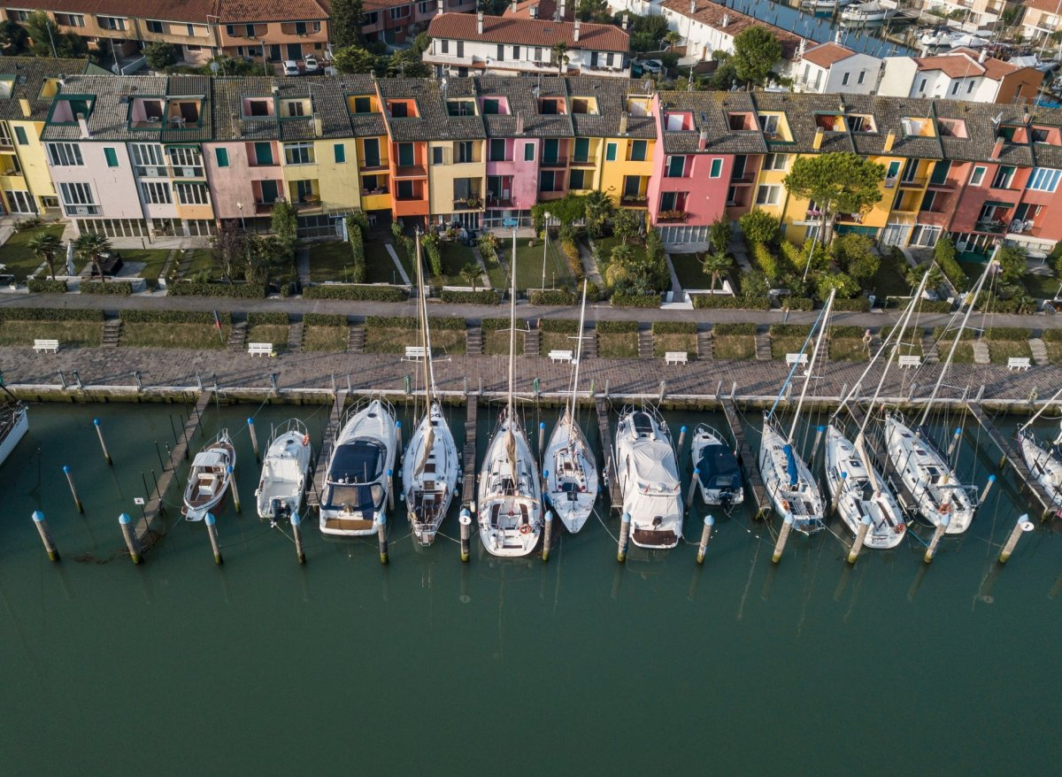 Caorle, Italy drone photography