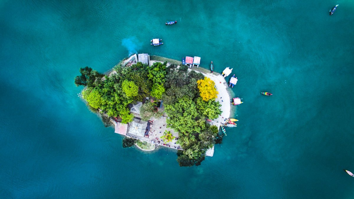 Island from drone