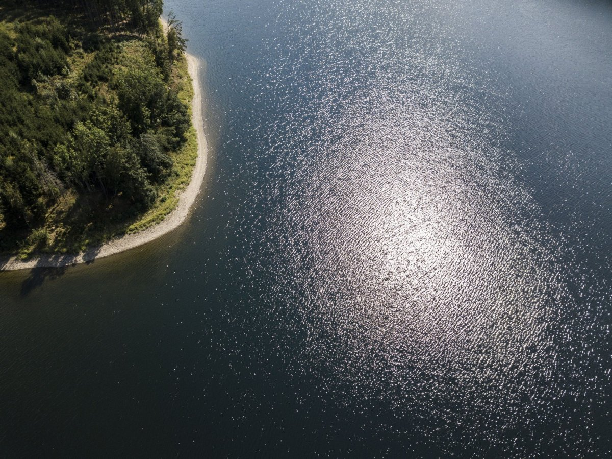 Water from above drone photography