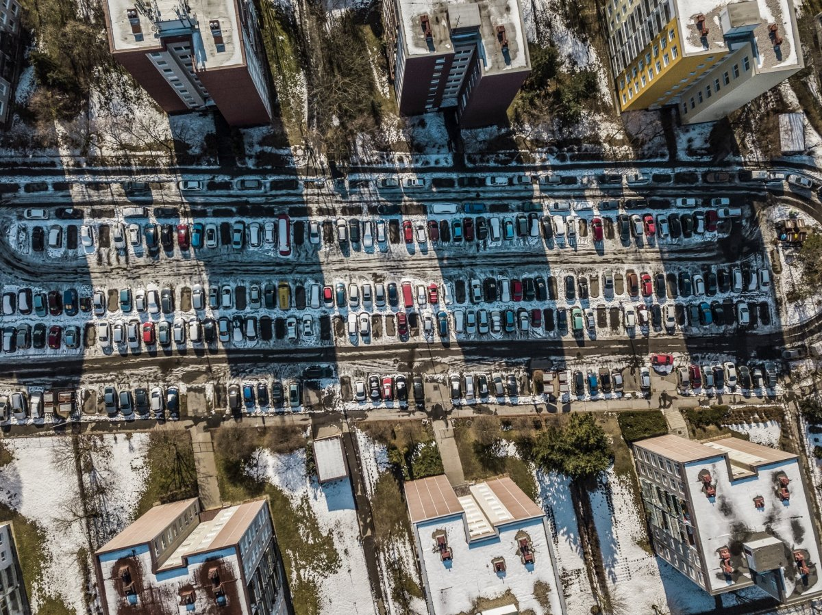 Cars drone photography