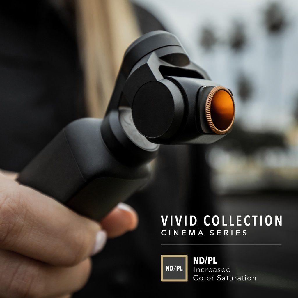 Filtry PolarPro Vivid Collection Cinema Series pro DJI Osmo Pocket nasazení