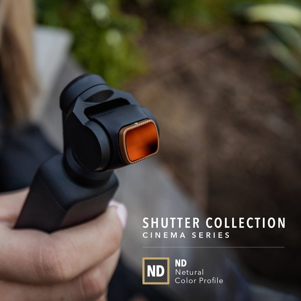 Filtry PolarPro Shutter Collection Cinema Series pro DJI Osmo Pocket na kameře