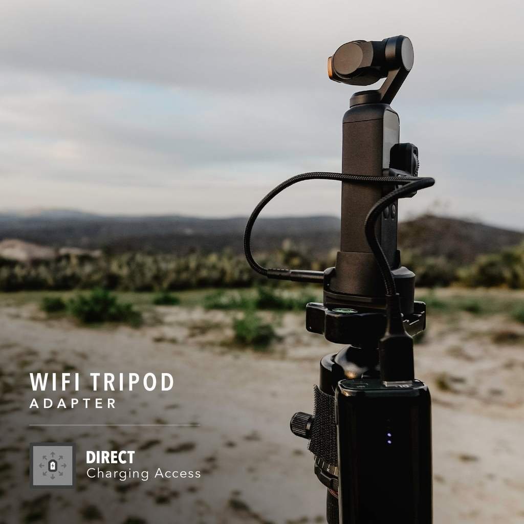 Tripod Adapter For Wifi Base pro DJI Osmo Pocket nasazený na Osmo