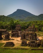 Vietnam ruins from drone