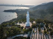 Vietnam statue from drone
