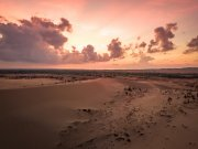 Vietnam sunset from drone